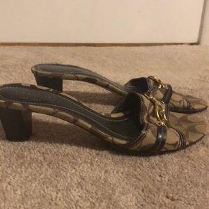 Coach kitten heel sandals